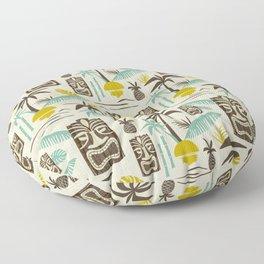 Island Tiki - Tan Floor Pillow
