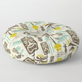 Island Tiki - Tan Floor Pillow