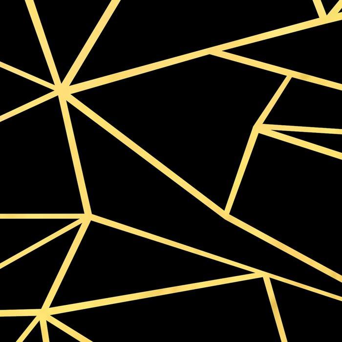 Ab Outline Grid Black and Gold Leggings