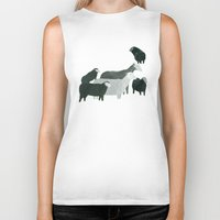 sheep Biker Tanks featuring Sheep by Yuliya