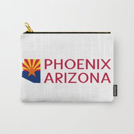 Arizona: Phoenix (State Shape & Flag) Carry-All Pouch