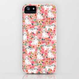 Havanese floral dog breed pure breed dog gifts iPhone Case