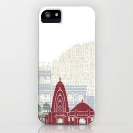 Jaipur skyline poster iPhone Case