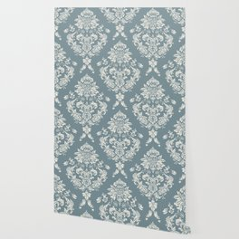 PUG FLORAL DAMASK Wallpaper