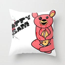 Happy same the goru kawaii bear Throw Pillow