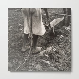 Dorothea Lange - Alabama Plow Girl, near Eutaw, Alabama Metal Print
