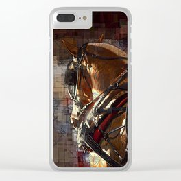 Work Horses Clear iPhone Case