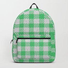 Emerald Buffalo Plaid Backpack