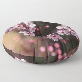 pink blossoms Floor Pillow
