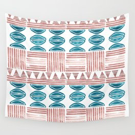Blush and Blue Wall Tapestry