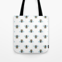 Watercolour Bee Pattern Tote Bag