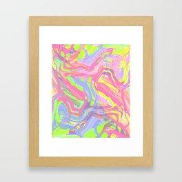 Vibrant child Framed Art Print