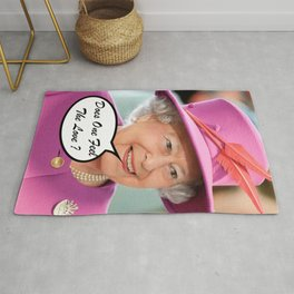 The British Queen Elizabeth II Does One Feel The Love Rug