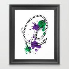 out anchor Framed Art Print