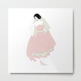 Bride Dancing Metal Print