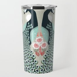 Peacocks by Andrea Lauren  Travel Mug