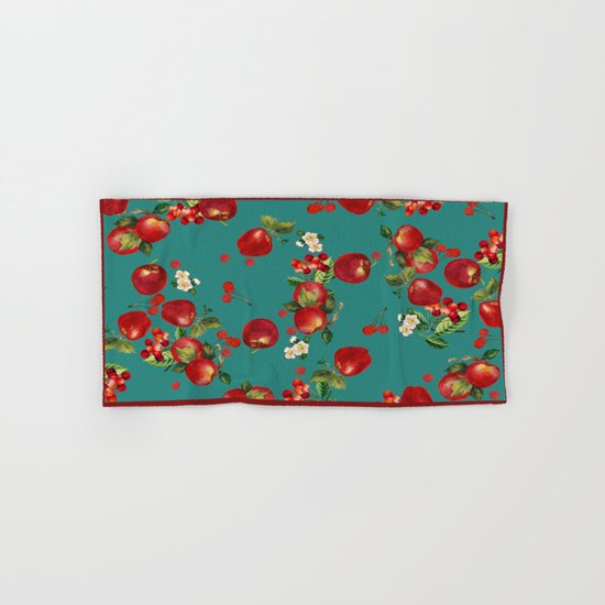 cherries and apples Hand & Bath Towel