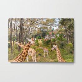 Giraffe Manor Metal Print
