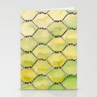 the wire Stationery Cards featuring Chicken Wire by Dawn Patel Art