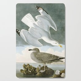 Seagulls Illustration - Birds in America Cutting Board