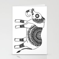 henna Stationery Cards featuring Henna Elephant by Julie Erin Designs