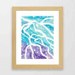 Sky Tracks Framed Art Print