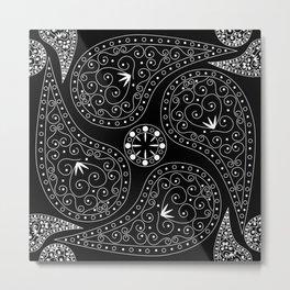White & Black Coordination Metal Print