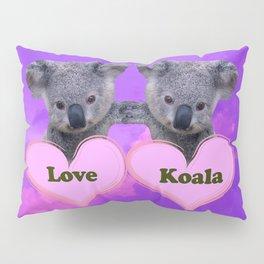 Koalas Love and Hearts Pillow Sham