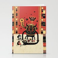 catcher in the rye Stationery Cards featuring Insect catcher by Exit Man