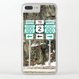 Vermont Route 100 Clear iPhone Case