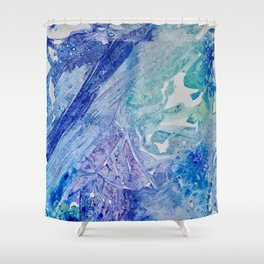 Water Scarab Fossil Under the Ocean, Environmental Shower Curtain
