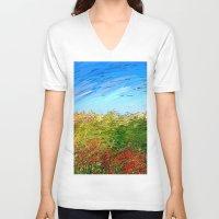 study V-neck T-shirts featuring Horizon Study by Paul Kimble