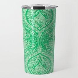 Simple Ogee Green Travel Mug