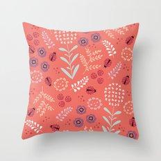 Little Ladybugs Throw Pillow