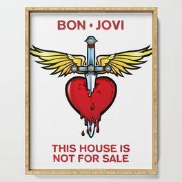 bon jovi this house not for sale logo putro Serving Tray