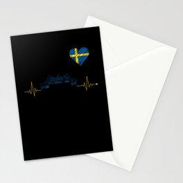 Sweden Skyline Stationery Cards