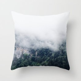 Among the Swiss Clouds Throw Pillow