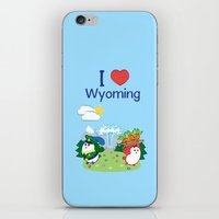 coraline iPhone & iPod Skins featuring Ernest and Coraline | I love Wyoming by Hisame Artwork