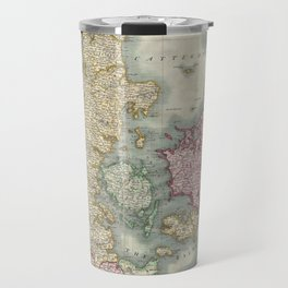 Vintage Map of Denmark (1801)  Travel Mug