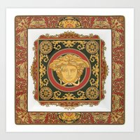 versace Art Prints featuring Classic Versace by Goldflakes
