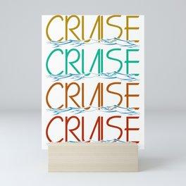Boat Ship Sailing Skipper Captain Sailor Gift idea Mini Art Print