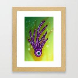 Eyeball Squid Framed Art Print