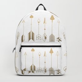 Be Brave Little Arrow (gold) Backpack