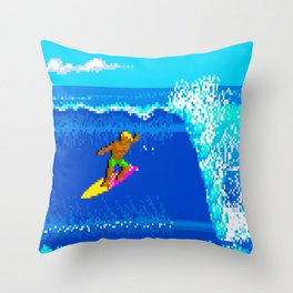Surf's Up! Throw Pillow