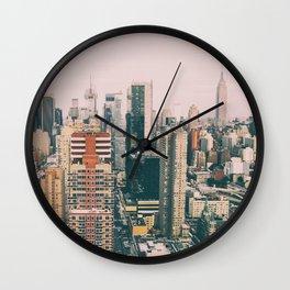 New York architecture 4 Wall Clock