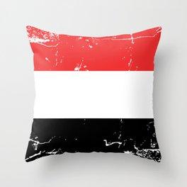 Republic of Yemen flag Throw Pillow