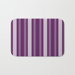 Purple Victorian Lady Stripe Bath Mat