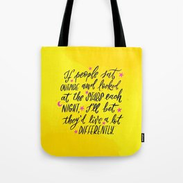 Look at the Stars - Yellow, Pink & Blue Tote Bag