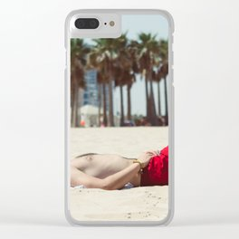 Relaxing on the Beach Clear iPhone Case