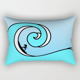 Surfing the Wave Rectangular Pillow